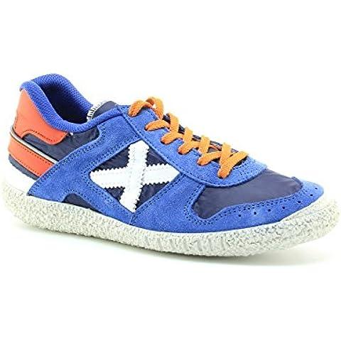 Zapatillas Munich Azul, Blanco, Naranja