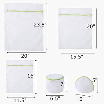 Comsun Wäschenetze Set, Premium Wäschebeutel, Wäschesack, Wäschetasche Mit Reißverschluss, Ideal Für Für Waschmaschine, Wiederverwendbar (Weiß) 5