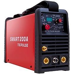 Gala Gar 22300200T Smart 200 Pulse-Poste à souder TIG DC avec Torche, Rouge