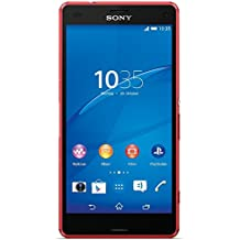 "Sony Xperia Z3 Compact - Smartphone libre Android (pantalla 4.6"", cámara 20.7 Mp, 16 GB, Quad-Core 2.5 GHz, 2 GB RAM), rojo"