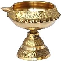 Shubhkart Kuber Stand - Lámpara de aceite hecha a mano, latón
