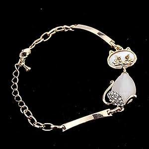 TREELAND-Bracelet Chic-Bracelet d'or-chaîne de or rose-chat aimable -pour femmes