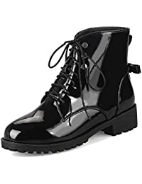 HiTime - Botas de Vestir para Mujer, con Lazo, Impermeables, Tallas 2-