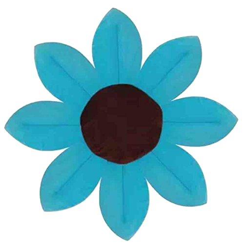 Badewannen,bobo4818 Baumwolle Schnelles Trocknen Blume Muster Gepolsterte Baby Bath Seat FüR Die Unisex Kleinkind Baden ?blau?