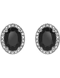 Carissima Gold Damen-Ohrringe 9 k (375) Saphir Diamant schwarz 5.58.926S