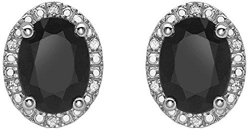 Carissima Gold Damen-Ohrringe 9 k (375) Saphir Diamant schwarz 5.58.926S (Gold-schwarzer Diamant-ohrringe)