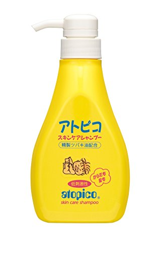 Japanese Atopico Baby Skin Care Shampoo with Camellia Oil - 400ml Pump (japan import)