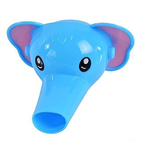 Vektenxi 1 Pieza de plástico Dibujos Animados Elefante Grifo de extensión Entzückende Lavabo Grifo jeringuillas Grifo Grifo Extensor para Cultura del hogar Azul