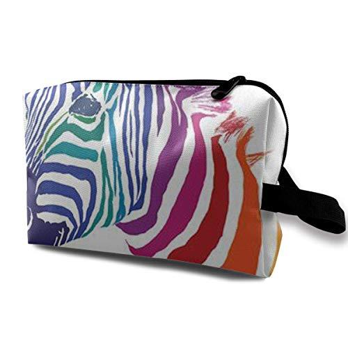 Reisen Make-up Kosmetiktasche Pinsel Beutel Farben Zebra Zipper Pen Organizer Carry Case Mini Make-up Tasche