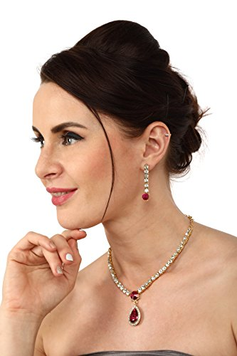 Zaveri Pearls Ethnic Choker Necklace for Women (Golden) (ZPFK6503)