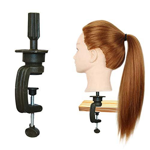 Friseurkopf Langen Haaren Mannequin Halterung Hairdressing Übungskopfhalterung wahre Perücke Modellkopfattrappe Puppenkopfhalterung Kopfmodell kleine Halterung