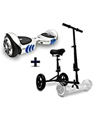 Intense Devices Pack Hoverboard Patinete electrico Q2 con Asiento Hoverbike (Intense Devices Pack Hoverboard Patinete