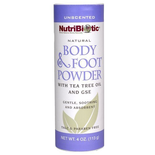 Nutribiotic Body and Foot Powder, Unscented, 4 Ounce by Nutrabolics (Unscented Powder Body)
