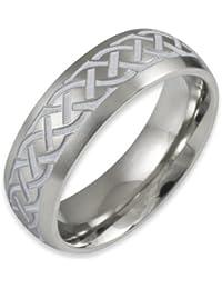 Herr der Ringe Jewelry Unisex-Ring Edelstahl  weiß 1024