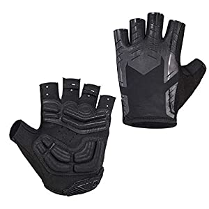 Outdoor Radfahren Handschuhe Fingerlos, Atmungsaktiv Anti Slip Komfortable Fahrradhandschuhe für Fitness Motorrad MTB…