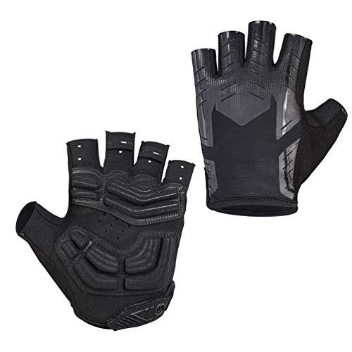 Outdoor Radfahren Handschuhe Fingerlos, Atmungsaktiv Anti Slip Komfortable Fahrradhandschuhe für Fitness Motorrad MTB Rennrad
