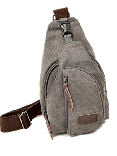 Sport-Canvas Tasche Multi-Funktions Outdoor-Diagonale Rucksack gray