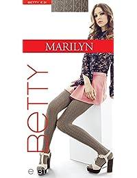 Marilyn gemusterte blickdichte Strumpfhose, 120 Denier
