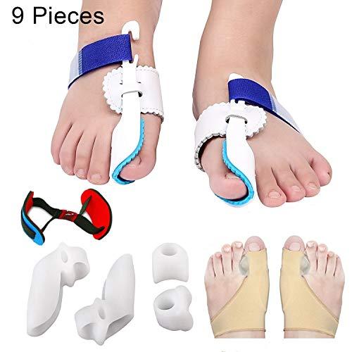 Alluce valgo correttore & bunion kit trattamento del dolore in alluce valgo-bunion pads, stecca, stivaletto, proteggi schermo, per uomini e donne