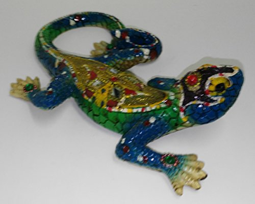 Figura de cerámica de lagarto 19 X 12 cm Souvenir de Barcelona