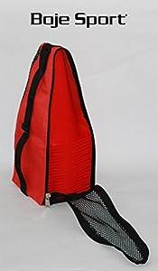 agility sport pour chiens - lot de 20 plots de délimitation 23 cm, couleur: rouge, contient également: un sac pratique - 20x MK23r