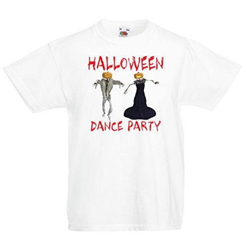 lepni.me Kinder T-Shirt Coole Outfits Halloween Tanz Party Veranstaltungen Kostümideen (14-15 years Weiß - Filmen Besten Aus Halloween-songs Die