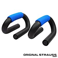 STRAUSS Unisex Adult ST-1299 Power Push Up Bar - Black/Blue, One Size