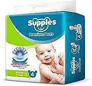 Supples Pant Style Diaper, size 4, 9-14kgs, 62 Pieces