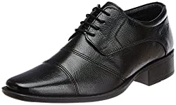 Hush Puppies Mens Hpo2 Flex Black Leather Formal Shoes - 8 UK/India (42 EU)(8246503)