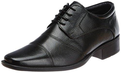 Hush Puppies Men's Hpo2 Flex Black Leather Formal Shoes - 7 UK/India (41 EU)(8246503)