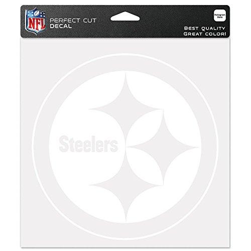 Pittsburgh Steelers NFL die Cut Window Vinyl Aufkleber Auto Car Logo Weiß 8x 8Aufkleber Football Lizenzprodukt Team Logo