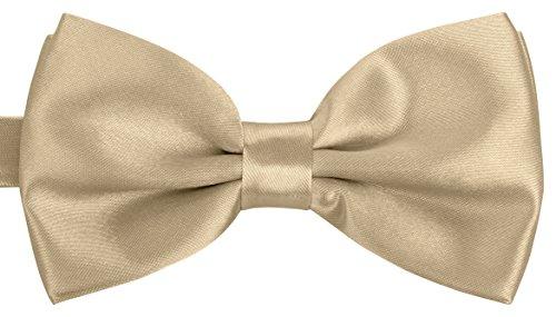 BomGuard Fliege für Herren gold I Männer Fliege für Hochzeit, Party oder edele Anlässe I Trendy Bow Tie I Herrenfliege Black Tie Bow Tie