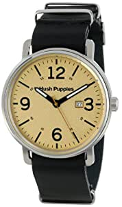 Hush Puppies Orbz Men's Automatic Watch with Beige Dial Analogue Display and Brown Leather Strap HP.3789M.2519