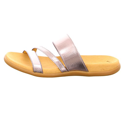 Gabor 43-702 Schuhe Damen Metallic Pantoletten Metall