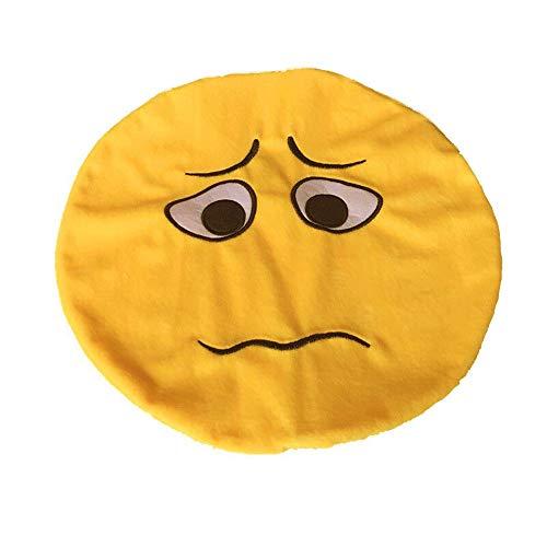 weicher Ausdruck Smiley Emoticon Plüsch Spielzeug Puppe Kissenbezug Sofa Dekoration Kreative Schöne Kissenbezug Auto Kissenbezug Kopfkissenbezüge Schlaf 1PC Lomelomme ()