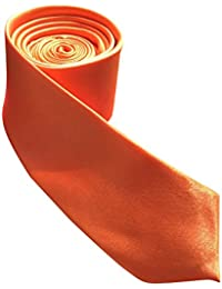 Plain satin cravate slim pour homme différents coloris