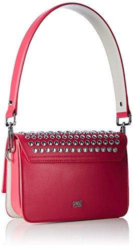 Cavalli - Milano Bag 005, Borsa a spalla Donna Mehrfarbig (Fuxia/Offwhite)