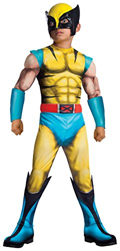 Rubies Marvel Universe Classic Collection Deluxe Fiber-Filled Muscle-Chest Wolverine Costume, Large (12-14) by - Deluxe Kostüm Wolverine