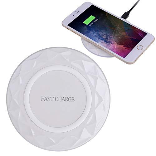 ZUKN Qi Fast Wireless Charger Dock Ultradünne tragbare Ladestation für iPhone X & 8 & 8 Plus, Galaxy S8 & S8 + und andere QI-Smartphones,B