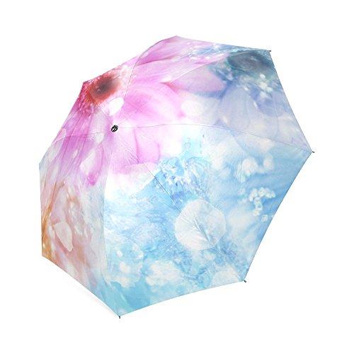 (kitchor oder Cool Daisies Travel Pongee Gewebe Beständig Custom Auto Faltbare Reise Regenschirm)
