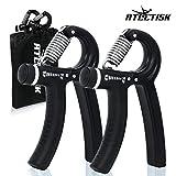 ATLETISK Handtrainer Set - 2er Fingerhantel verstellbar (10-40kg) inkl. Beutel - Hand Trainingsgerät zur Stärkung von Handgelenk - Unterarmtrainer - Griffkraft Trainer für Fitness, Klettern & Bouldern