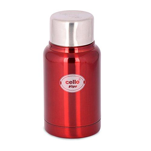 Cello Vigo Stainless Steel Flask, 180ml, Red