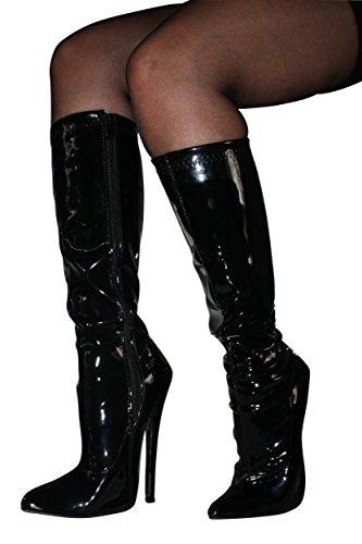 EROGANCE vernis high heels bottes bottes hautes noir eU 37 à 46/a3582 Noir - Noir