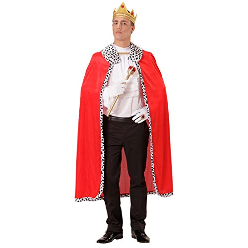 gsmantel mit Krone rot Umhang mit Königskrone Prinzenumhang Königsrobe königliche Robe Faschingskostüm (Edle König Erwachsenen Kostüme)