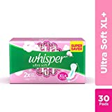 Whisper Ultra Soft Sanitary Pads - 30 Pieces (XL Plus)