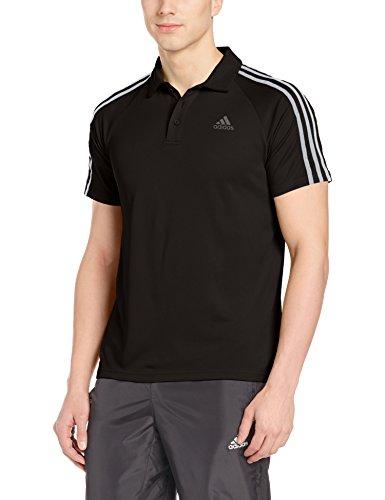 adidas D2M 3S Herren Polo Tennis Black