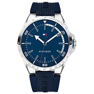 Tommy Hilfiger Reloj Analógico para Hombre de Cuarzo con Correa en Silicona 1791542