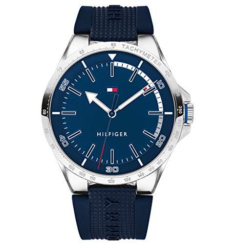 Tommy hilfiger orologio analogico quarzo uomo con cinturino in silicone 1791542