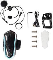 Almencla Motorcycle Bluetooth Headset, Helmet Headphones Communication Systems Intercom Walkie-Talkie for Scoo