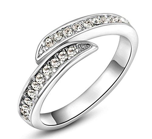 Anelli Donna Matrimonio Placcato Oro Di Seta Di Zirconia Cubicia Cz Dimensioni 11,5 Da Aienid
